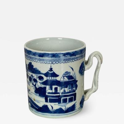 Blue White Cider Mug China Circa 1800