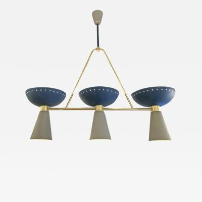 Blue and Gray Mid Century Chandelier