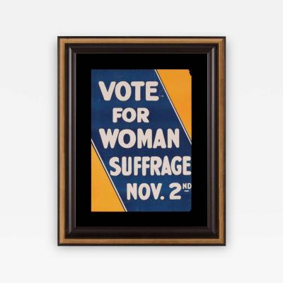 Blue and Yellow Suffrage Movement Poster