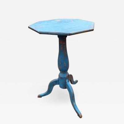 Blue candle stand c 1810