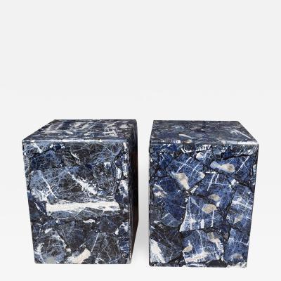 Blue jasper stone veneer tables