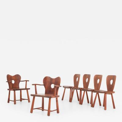 Bo Fj stad Scandinavian Dining Chairs in Pine by Bo Fjaestad 1930s