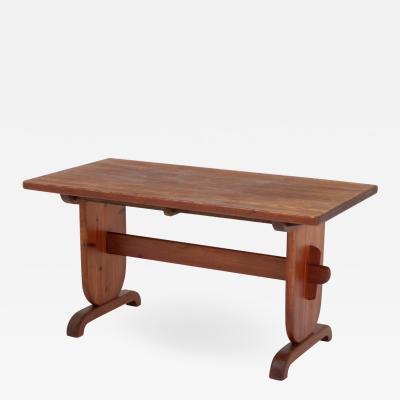 Bo Fj stad Scandinavian Dining Table in Pine by Bo Fjaestad 1930s