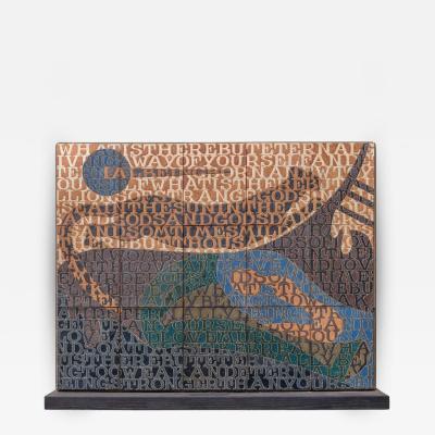 Bo Kristiansen Bo Kristiansen Stoneware Tile Wall Relief Denmark 1980s