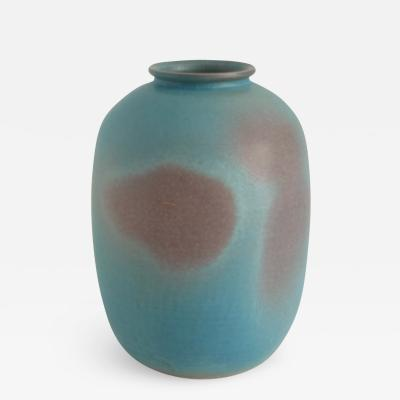 Bo Scullman BO SCULLMAN VASE IN MUTED TURQUOISE AND VIOLET