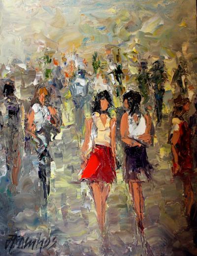 Boardwalk Oil Painting by Andre Dluhos