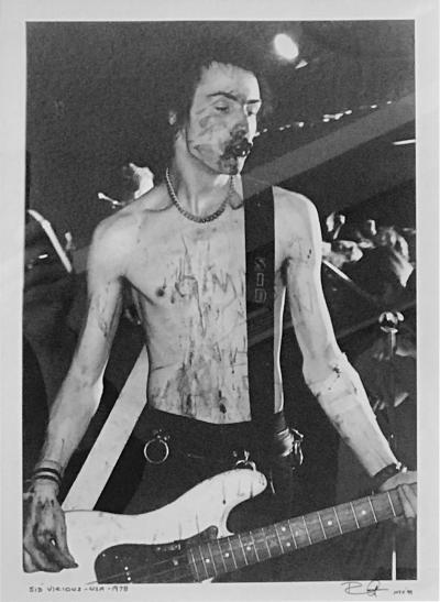 Bob Gruen Sid Vicious Longhorn Ballroom by Bob Greun 1978