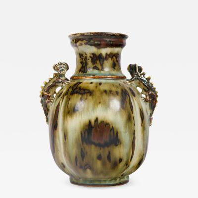 Bode Willumsen Bode Willumsen for Royal Copenhagen Stoneware Vase with Gargoyles Denmark