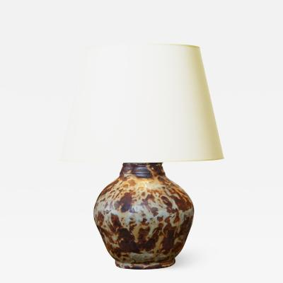 Bode Willumsen Exceptional Table Lamp in Sung Glaze by Bode Willumsen