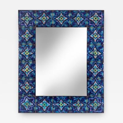 Bodil Eje A Rare Enameled Copper Mirror