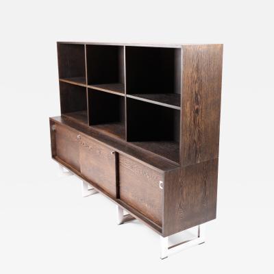 Bodil Kjaer Bodil Kj r Freestanding Sideboard with Bookshelf in Wenge Denmark 1960s