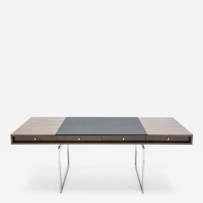 Bodil Kjaer Unique Bodil Kjaer Rosewood chrome desk E Pedersen S n Denmark 1960s