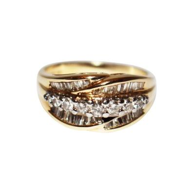Bold Elegant Modern Natural Diamond Cocktail Ring