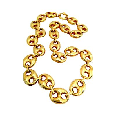 Bold Italian Gold Nautical Link Necklace