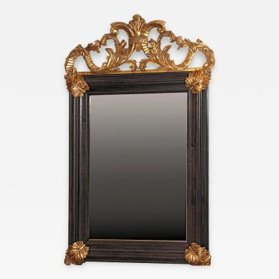 Bolection Framed Mirror with Gild Details and Crown Aged Mirror Glass