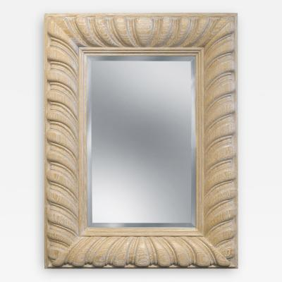 Bolton Carved Mirror in White Oak by L C S