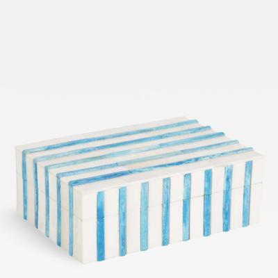 Bone Turquoise Stripe Box