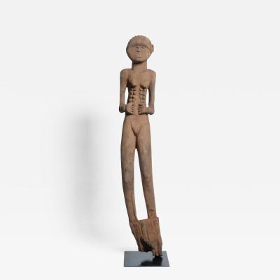 Bongo People Funerary Post Female Figure
