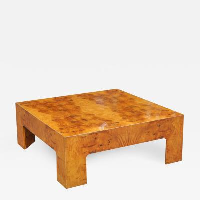 Bookmarked Burl Coffee Table