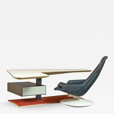 Boomerang Desk and Gemini Chair France 1970s