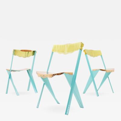 Borek Sipek Set of Two Bo ek pek Anebo Metal Chairs Driade 1986