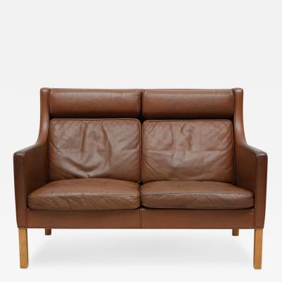 Borge Mogensen Borge Mogensen Leather Settee