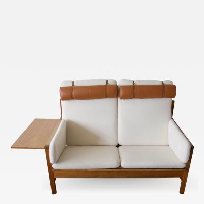 Borge Mogensen Borge Mogensen Model 225 White Sofa with Oak Frame
