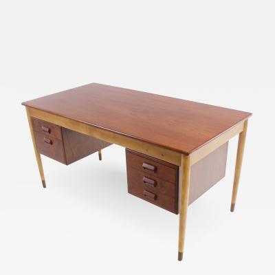 Borge Mogensen Scandinavian Modern Teak Beech Walnut Desk Designed by Borge Mogensen