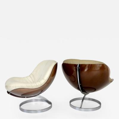 Boris Tabacoff Boris Tabacoff by Editions MMM Pair of French Sphere Lounge Chairs circa 1971