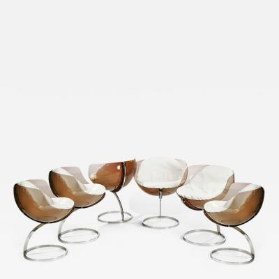 Boris Tabacoff Six 1971 Sphere chairs by Boris Tabacoff
