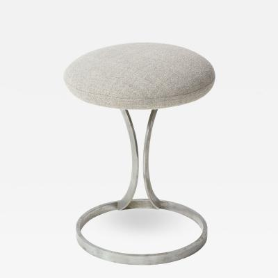 Boris Tabacoff Upholstered Metal Stools by Boris Tabacoff