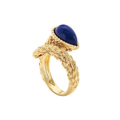 Boucheron Lapis Lazuli Gold Serpent Boheme Ring