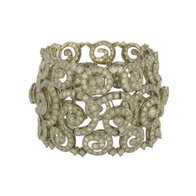 Boucheron Paris Accroche Couer Diamond Cuff Bracelet