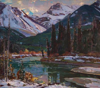 Bow River near Banff Canadian Rockies