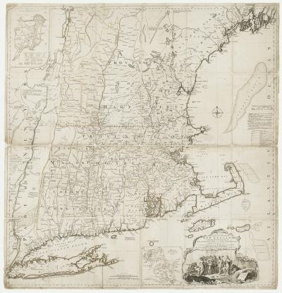 Braddock Mead Large scale map of New England just prior to the American Revolution