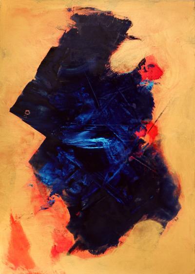 Brady Legler Blue Manta an Original Painting by Brady Legler