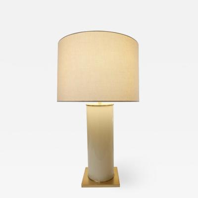 Brass Base Opaline Table Lamp by Kate Spade