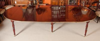 Brass Bound Dining Table