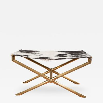 Brass Campaign Style Bench