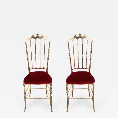 Brass Chairs by Chiavari Italy