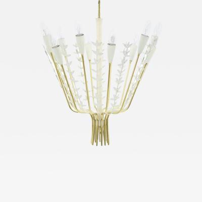 Brass Chandelier by M nchner Werkst tten 1960s