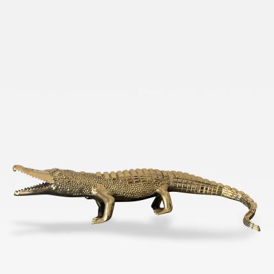 Brass Crocodile or Alligator Sculpture Pet