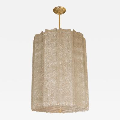 Brass Cylindrical Lantern Ceiling Fixture