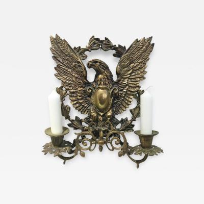 Brass Eagle Sconce