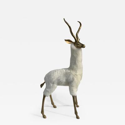Brass Gazelle or Impala Sculpture