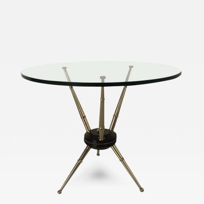Brass Italian Tripod Side Table