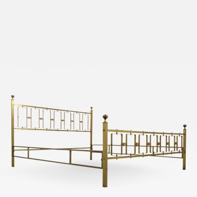 Brass Modern Italian Style Queens Size Bed Frame