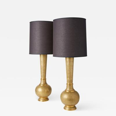 Brass Moroccan Lamp Duo