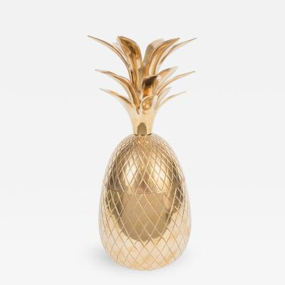 Brass Pineapple Form Box