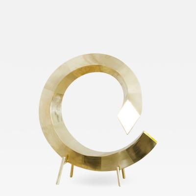 Brass Spiral Table Lamp Rooms